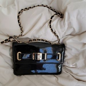 Anne Klein Patent black Crossbody